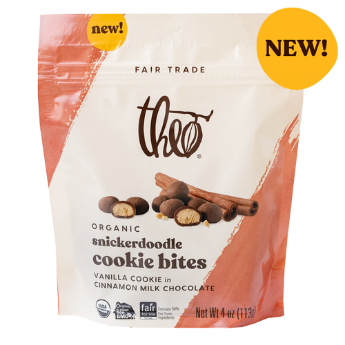 NEW Theo Snickerdoodle Cookie Bites