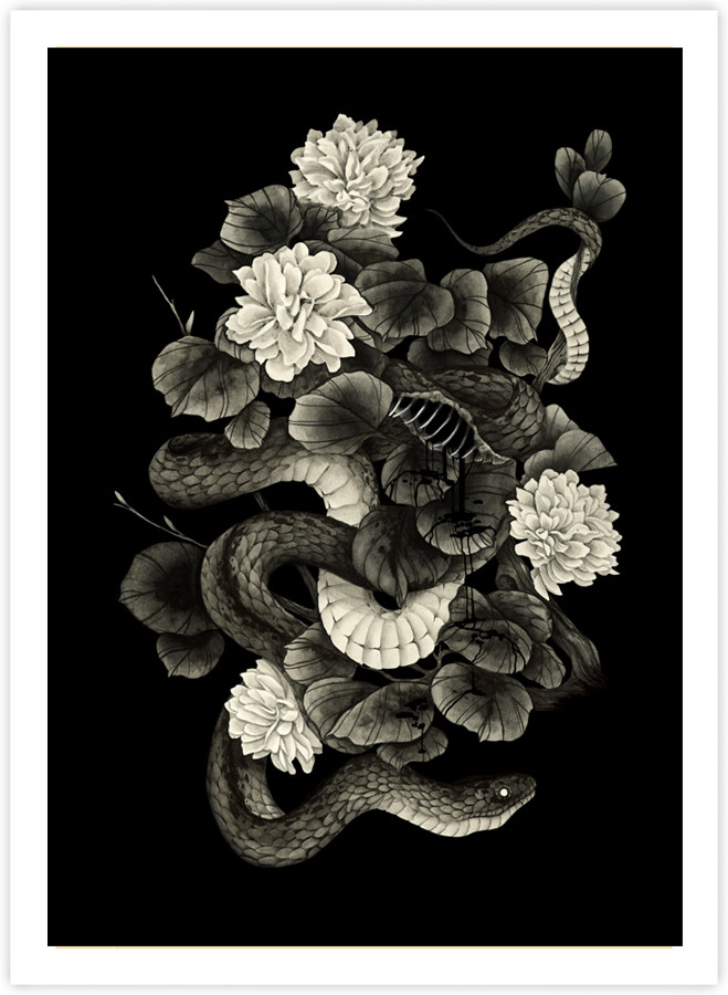 Snake and Flowers
