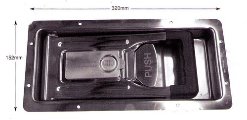 Recessed Door Lock Kit S/S - 90C15171/A