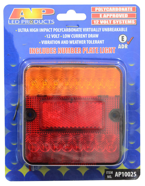 Led Trailer Lamp Square 12V With No Plat