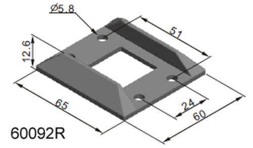 Backing Plate To Suit 60090