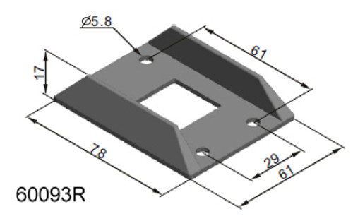 Backing Plate To Suit 60090. Material – Rubber