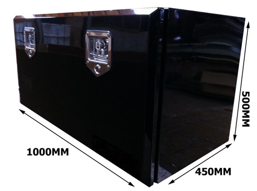 Toolbox Black Powder Coated 1000X500X450