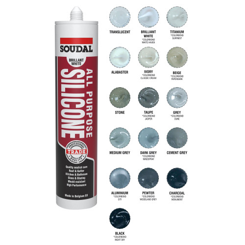 All Purpose Silicone Pewter 300Ml