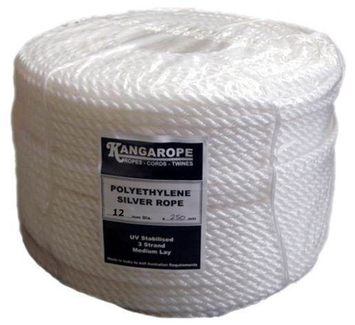 Silver Rope 12MM X 250Mtr Coil