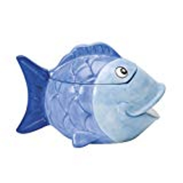 Ceramic Big FIsh cat treat container