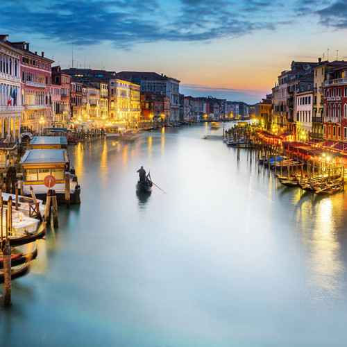 Grand Canal At Dusk Zen Puzzle