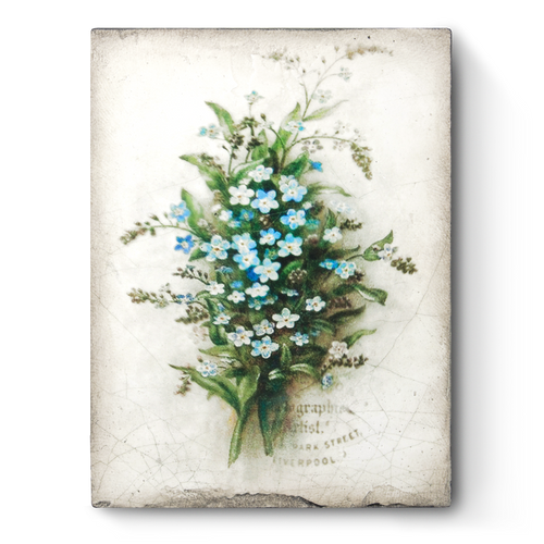 Forget Me Not Memory Block Tile