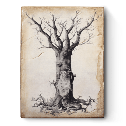 Medieval Tree of Life Memory Block Tile