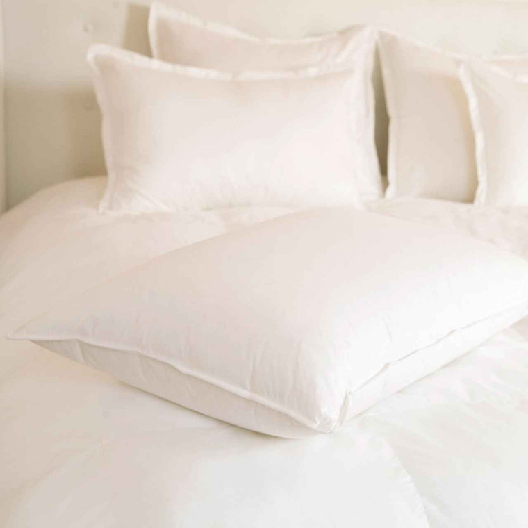 DOWNLITE Hotel and Resort Downlite 400 TC 25/75 White Goose Down and Feather Blend Hotel Pillow