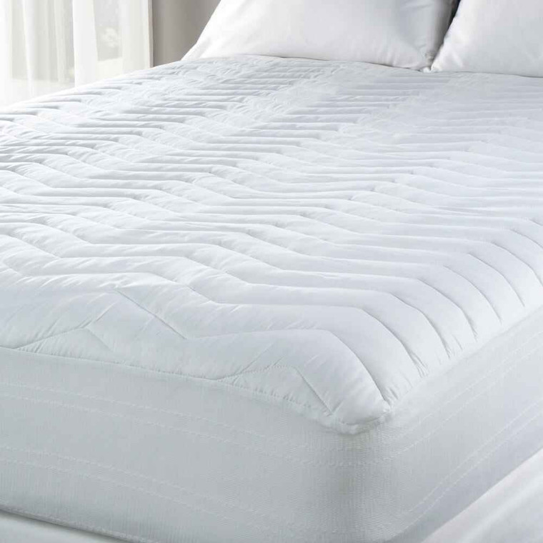 DOWNLITE Hotel and Resort Light Plush 200 TC Easy Care Mattress Pad - King Only Sale