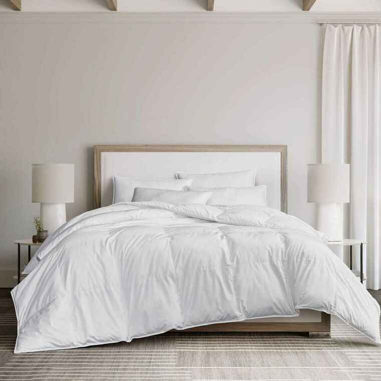 DOWNLITE Hotel and Resort Downlite Lightweight 230 TC 550 FP White Duck Down Duvet Insert