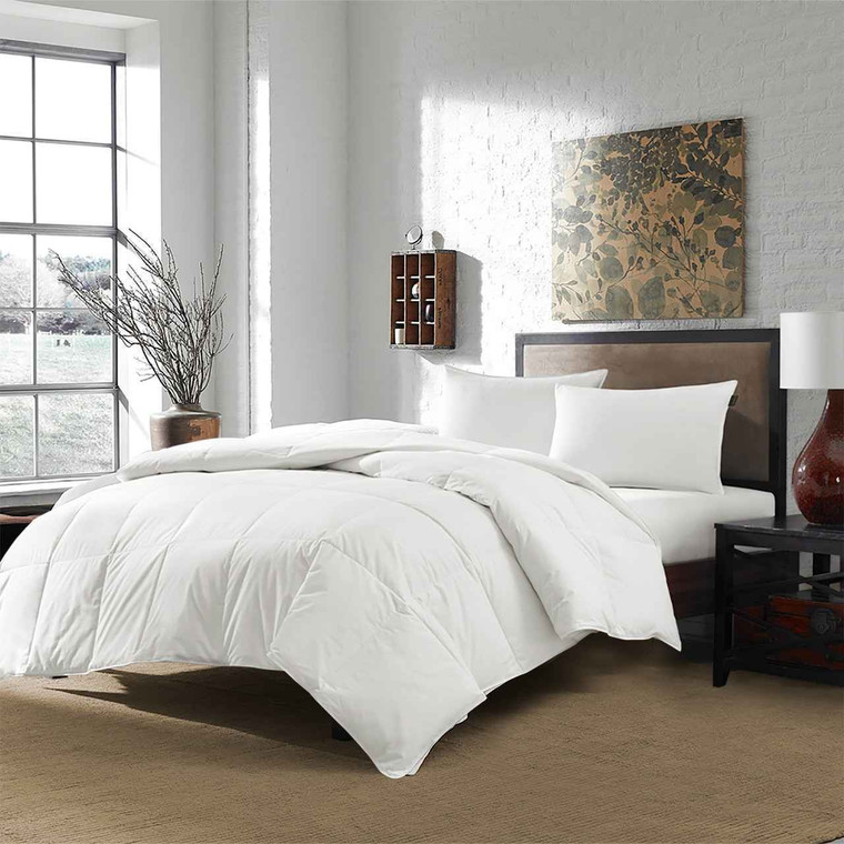 DOWNLITE Twin XL White Goose Down Duvet Insert - Perfect For Dorms