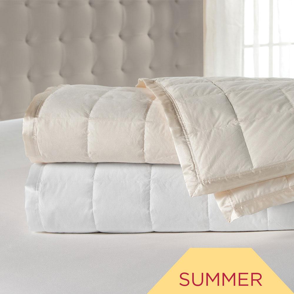 Luxury Satin Trim Down Blanket