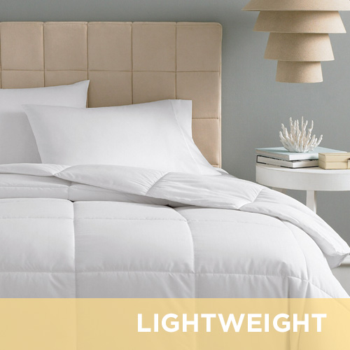 DOWNLITE Light Weight 230 TC 600 FP White Goose Down S/T Comforter