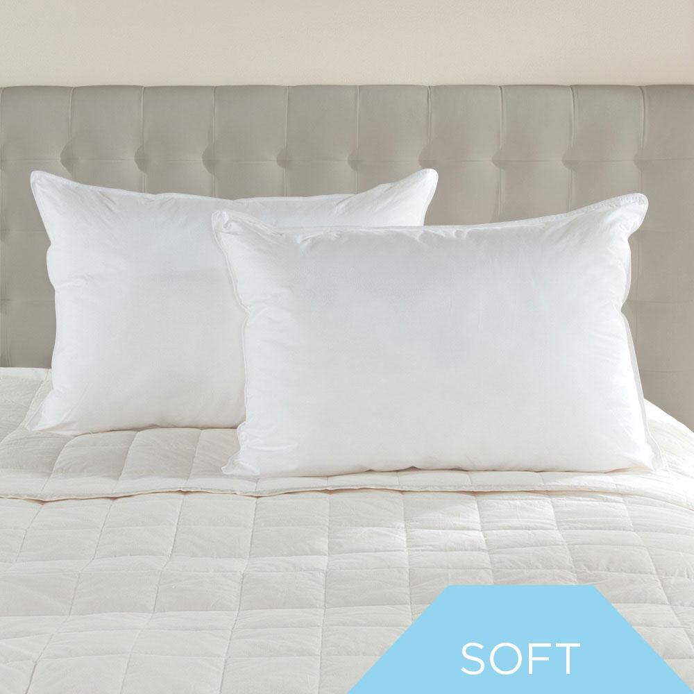 Soft Density White Goose Down Hotel Pillow