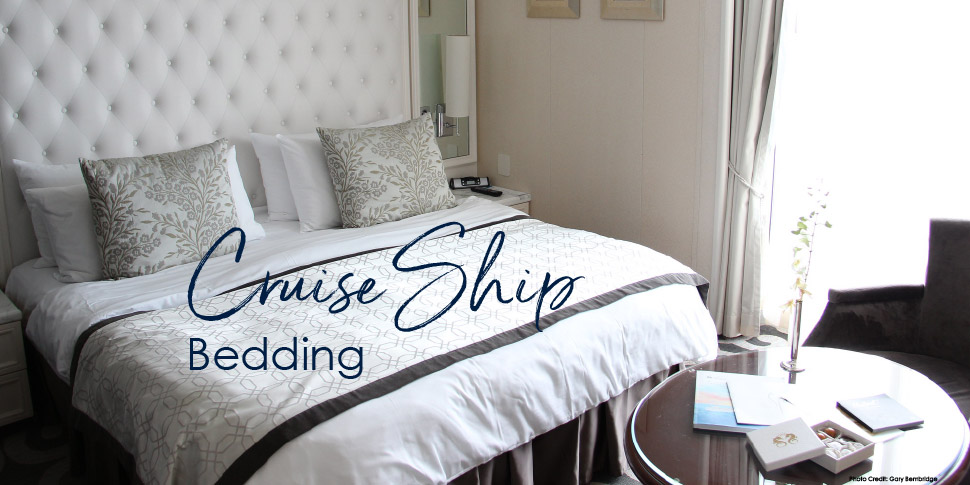 cruise ship bedding