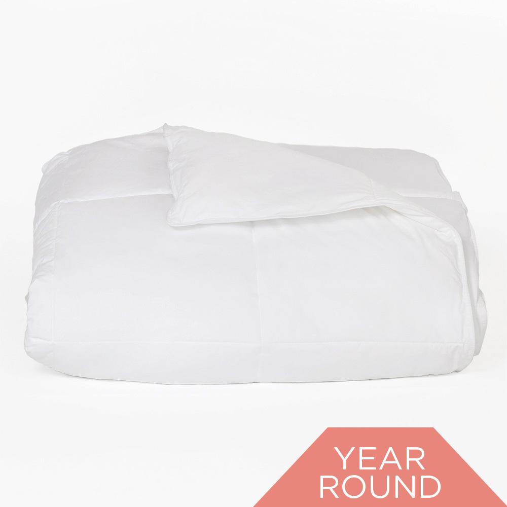 Down Alternative Oversized White King Comforter