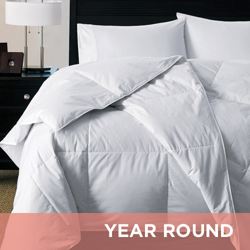 300 TC White Goose Down Alternative Silky Soft Comforter
