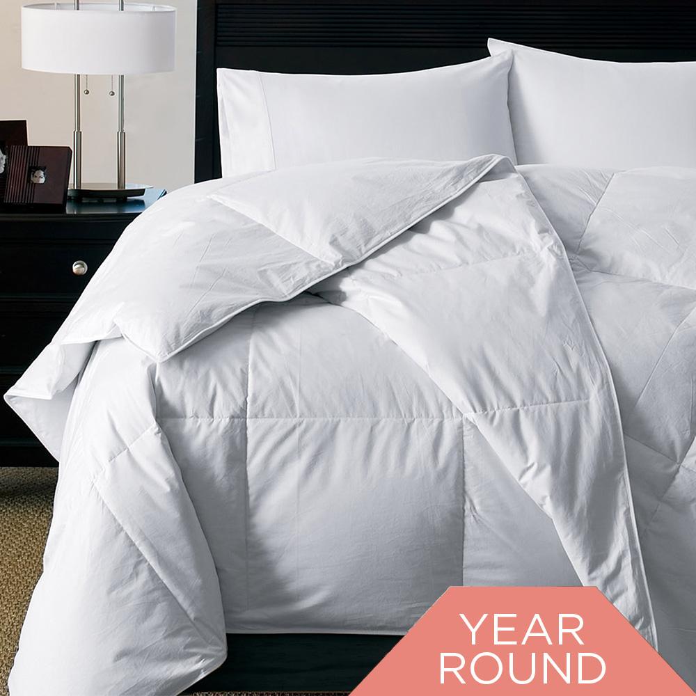 300 TC White Goose Down Alternative Silky Soft Comforter
