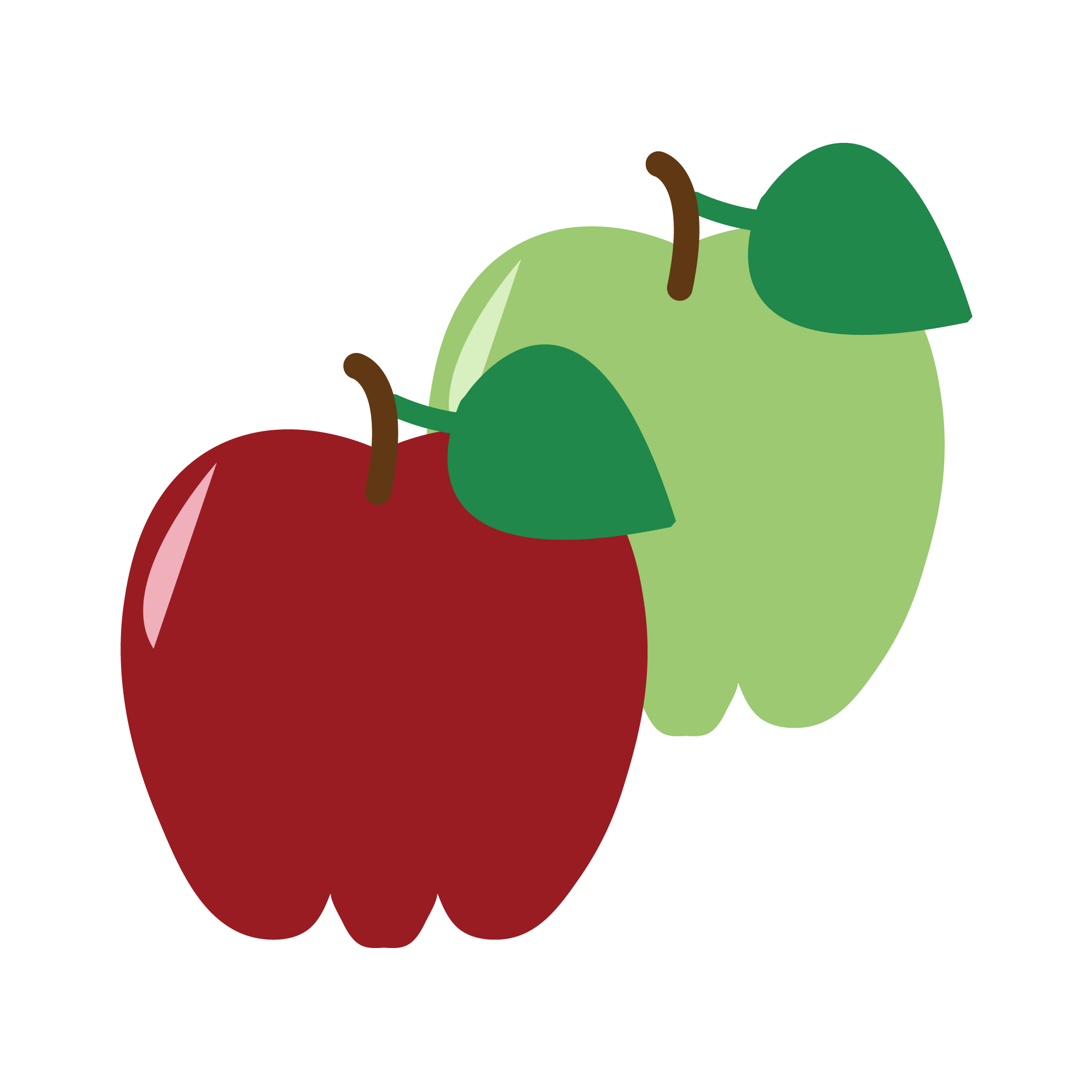 Apple flavor graphic for INFUSION drink manufactured by Bubble Sip, LLC.