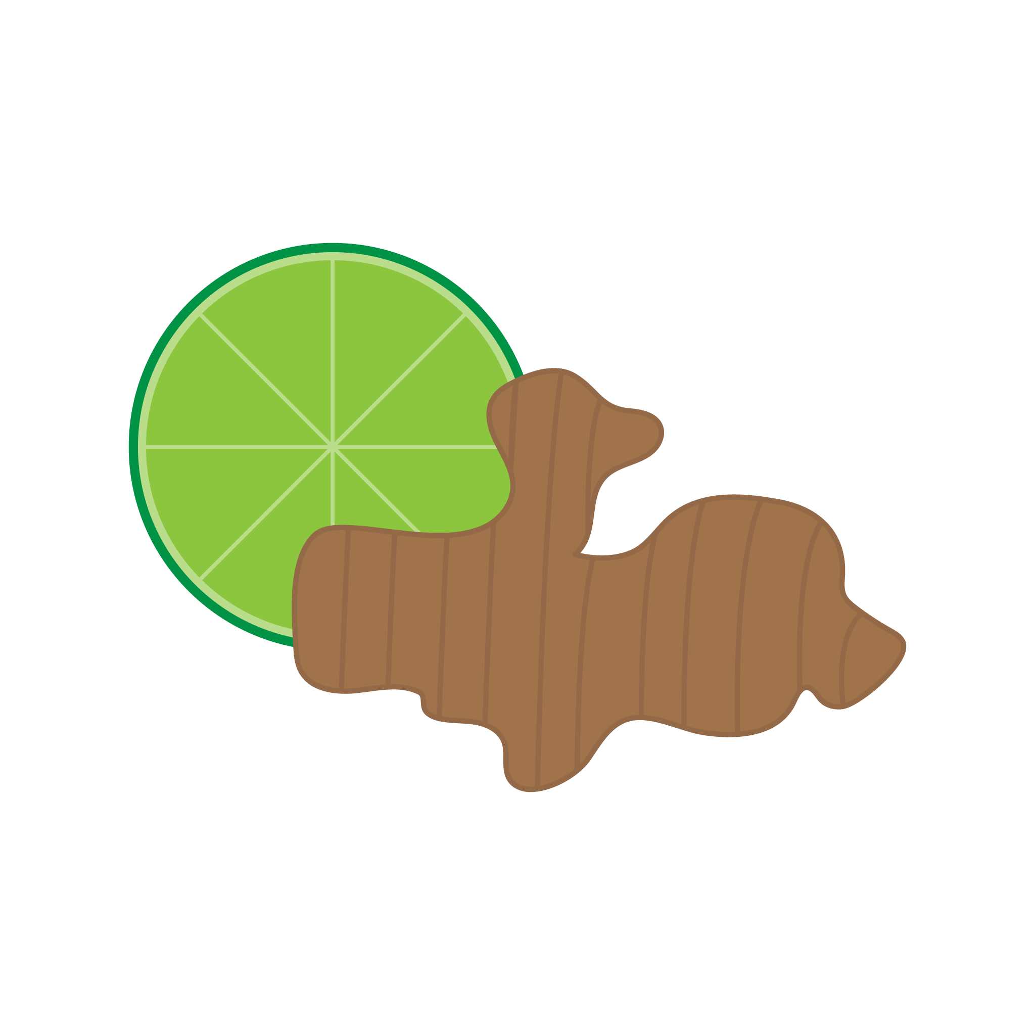 Ginger Lime flavor graphic for INFUSION drink manufactured by Bubble Sip, LLC.