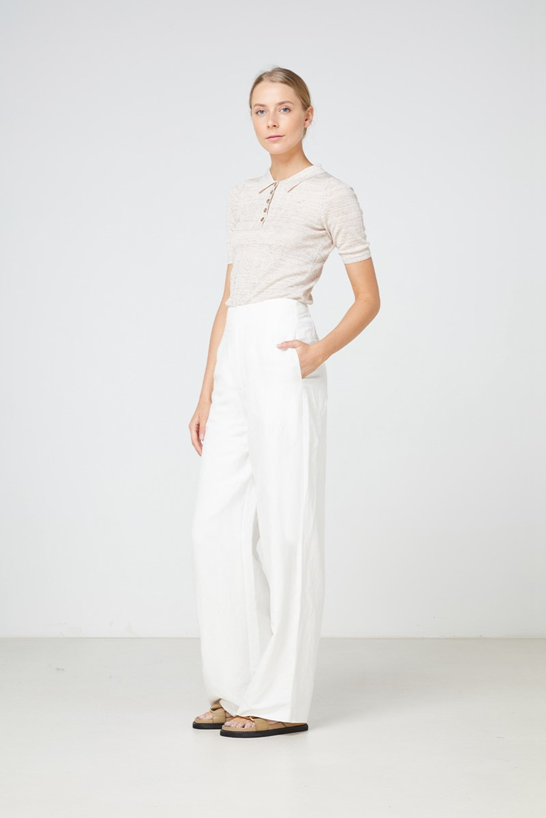 Elka Collective  Carmine Knit Top Neutrals