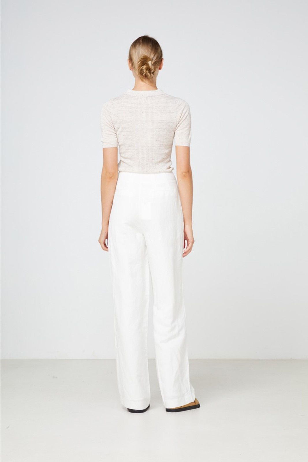 Elka Collective Carmine Knit Top Neutrals  3