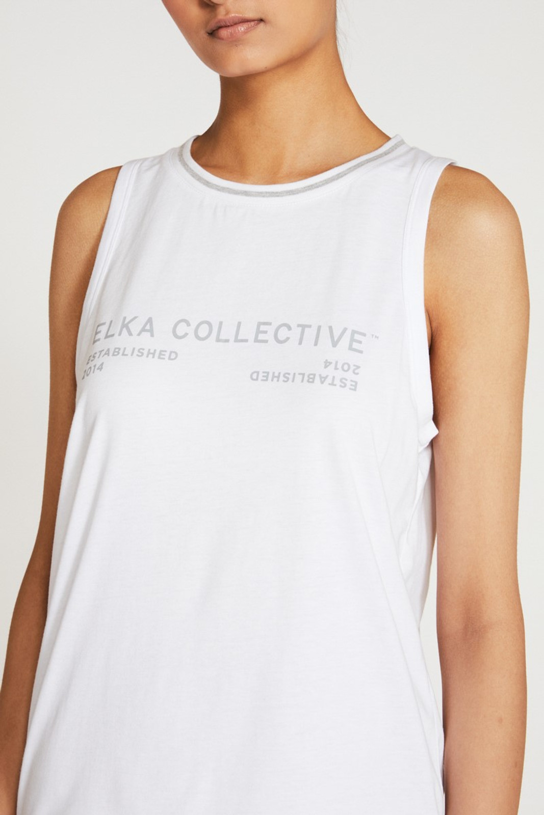 Elka Collective Racer Tank White  1