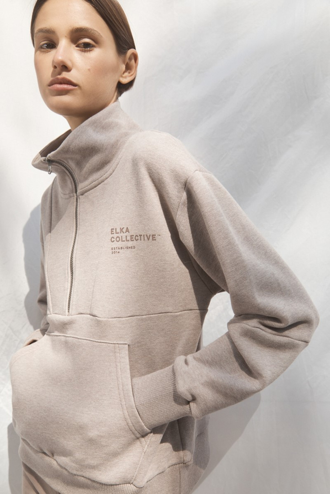 Elka Collective Mindful Sweater Neutrals  0