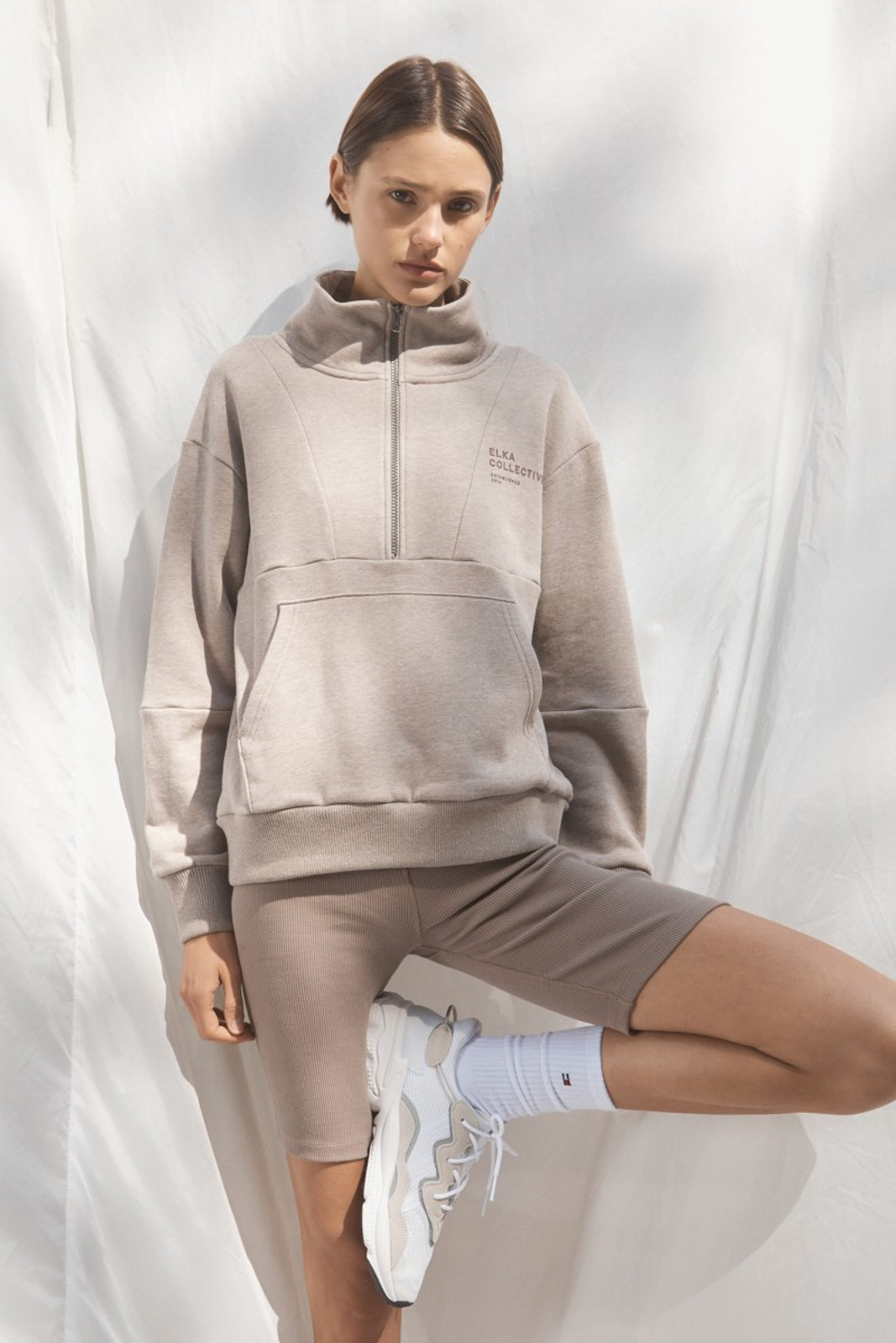 Elka Collective Mindful Sweater Neutrals  1
