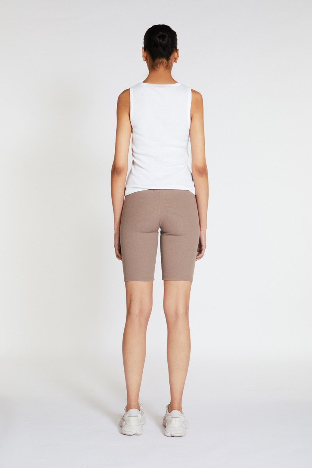Elka Collective Racer Ribbed Short Neutrals  3