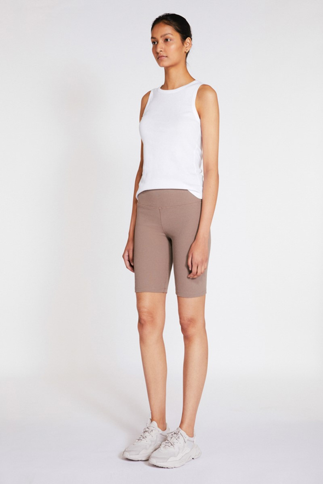 Elka Collective Racer Ribbed Short Neutrals  1