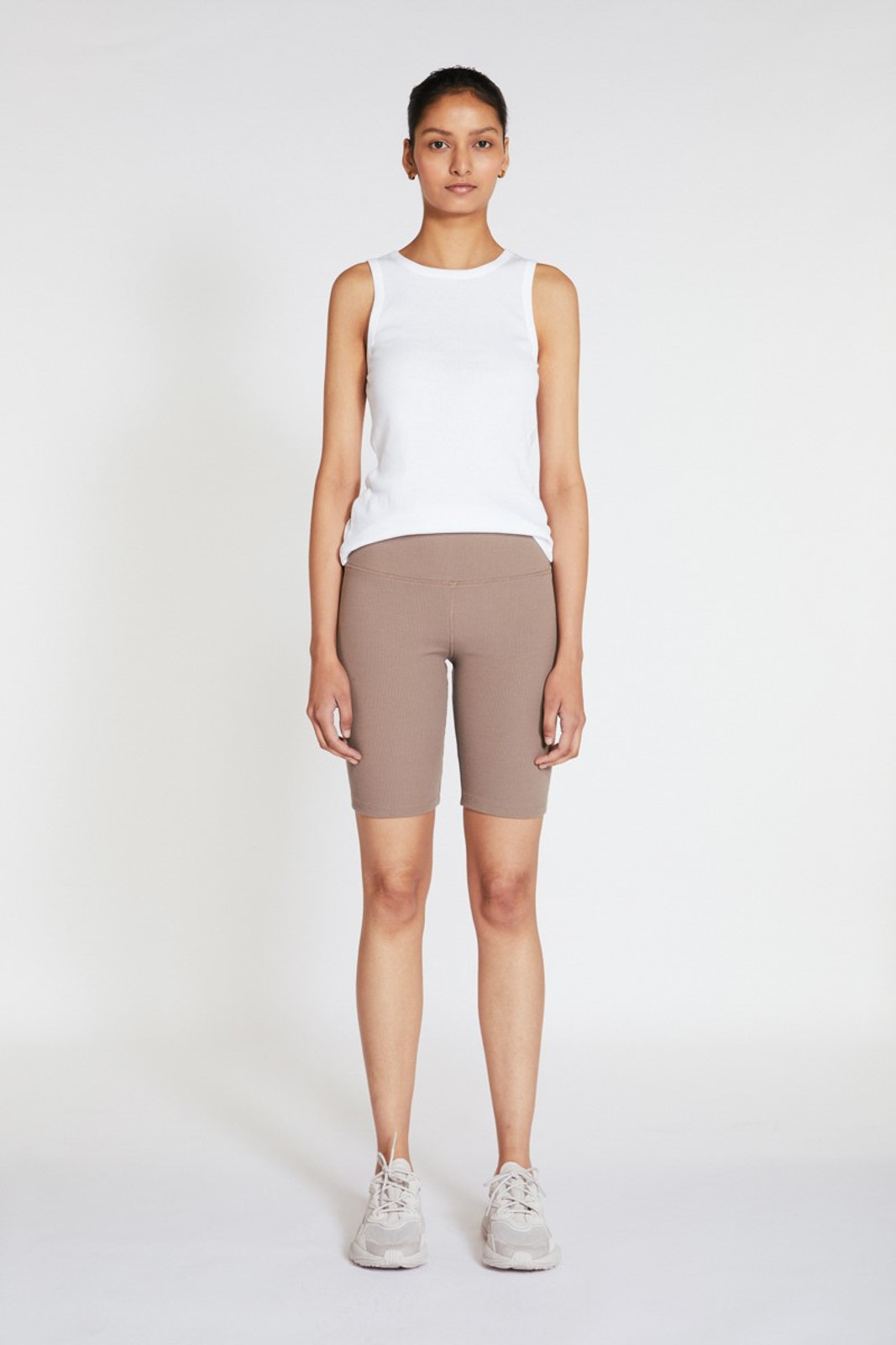Elka Collective Racer Ribbed Short Neutrals  2