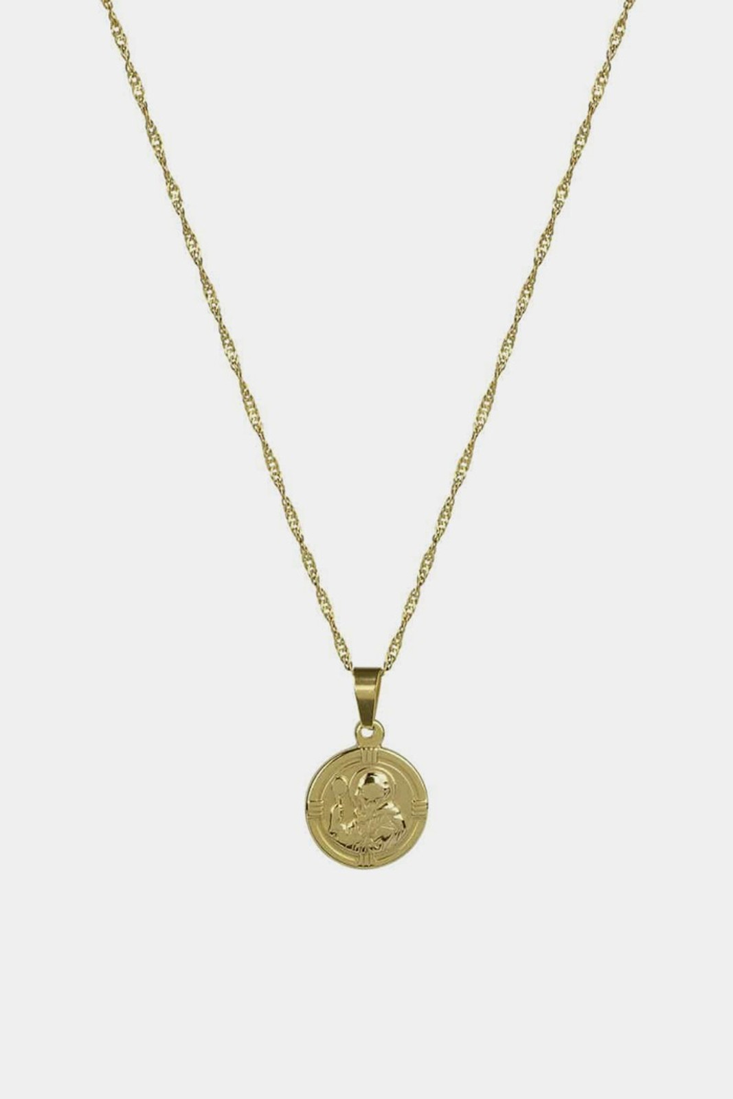 Elka Collective BRIE LEON ST CHRISTOPHER PENDANT GOLD Gold  0