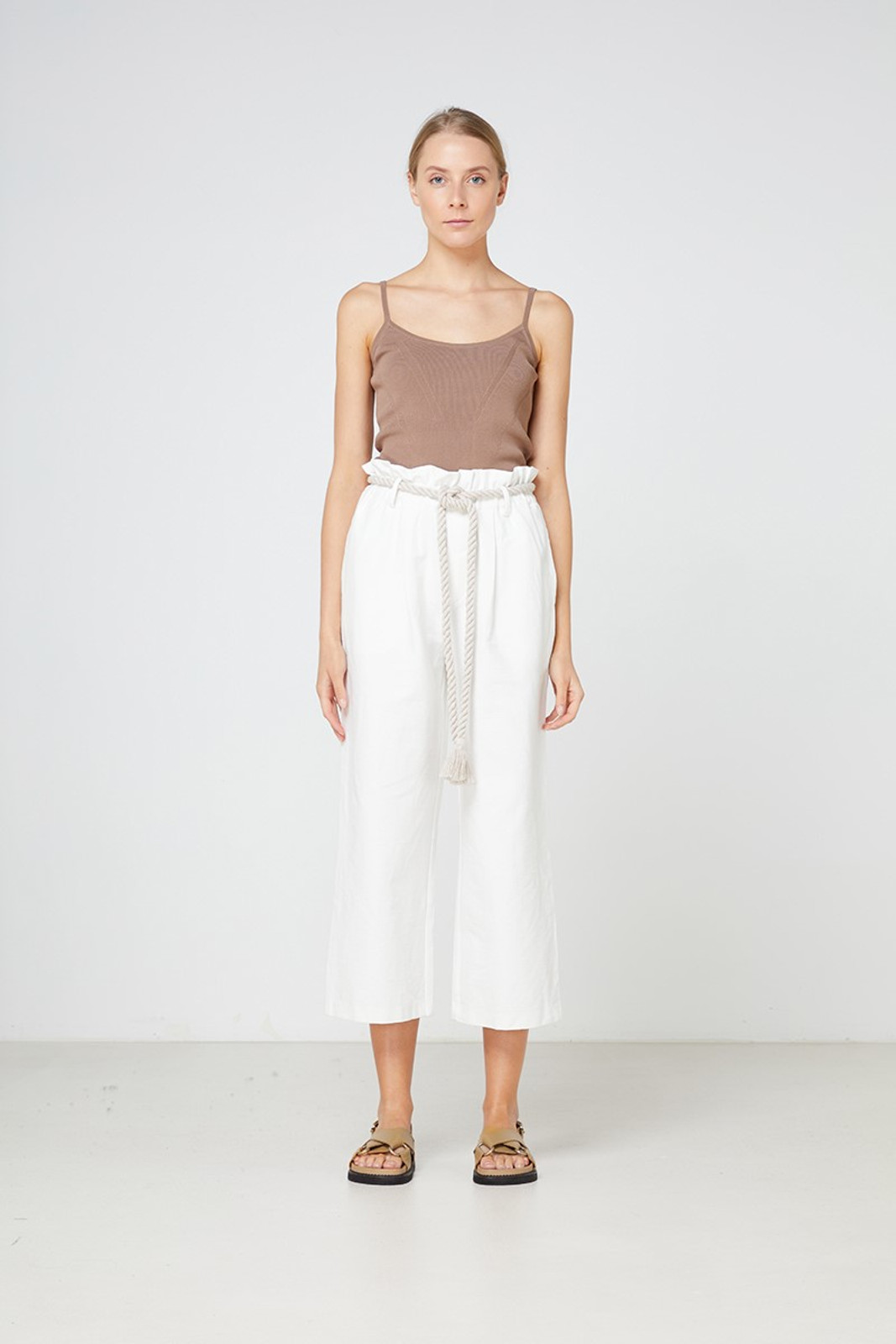Elka Collective Arden Pant White  0
