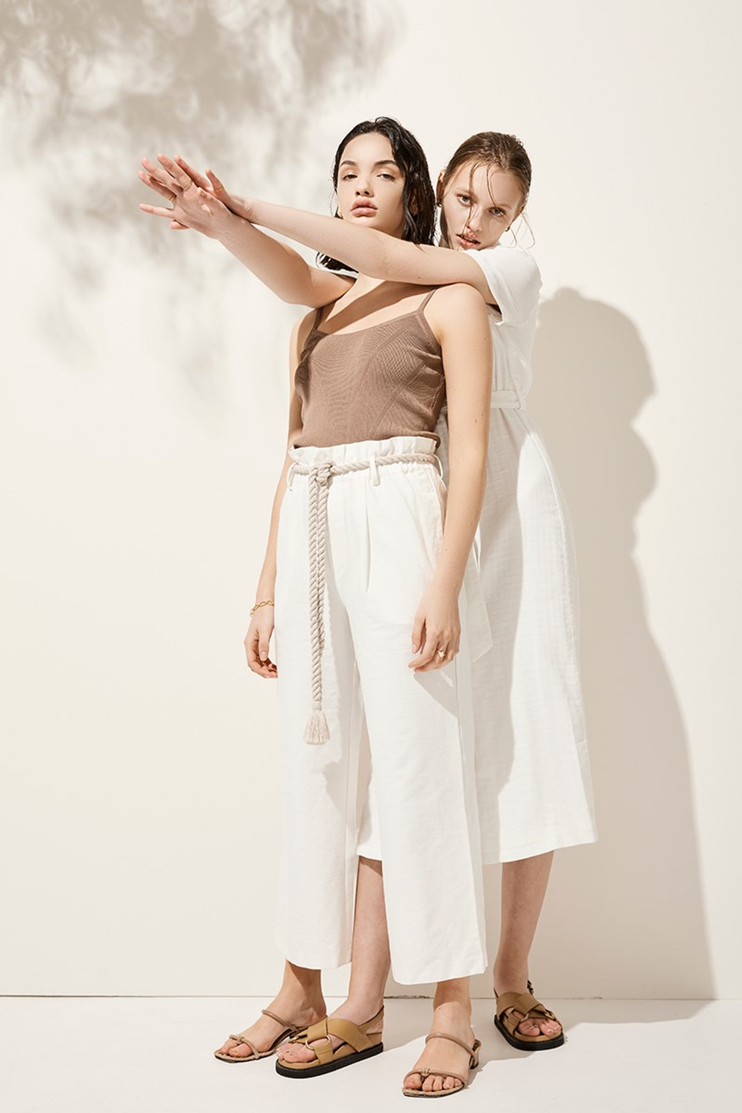 Elka Collective Arden Pant White  1