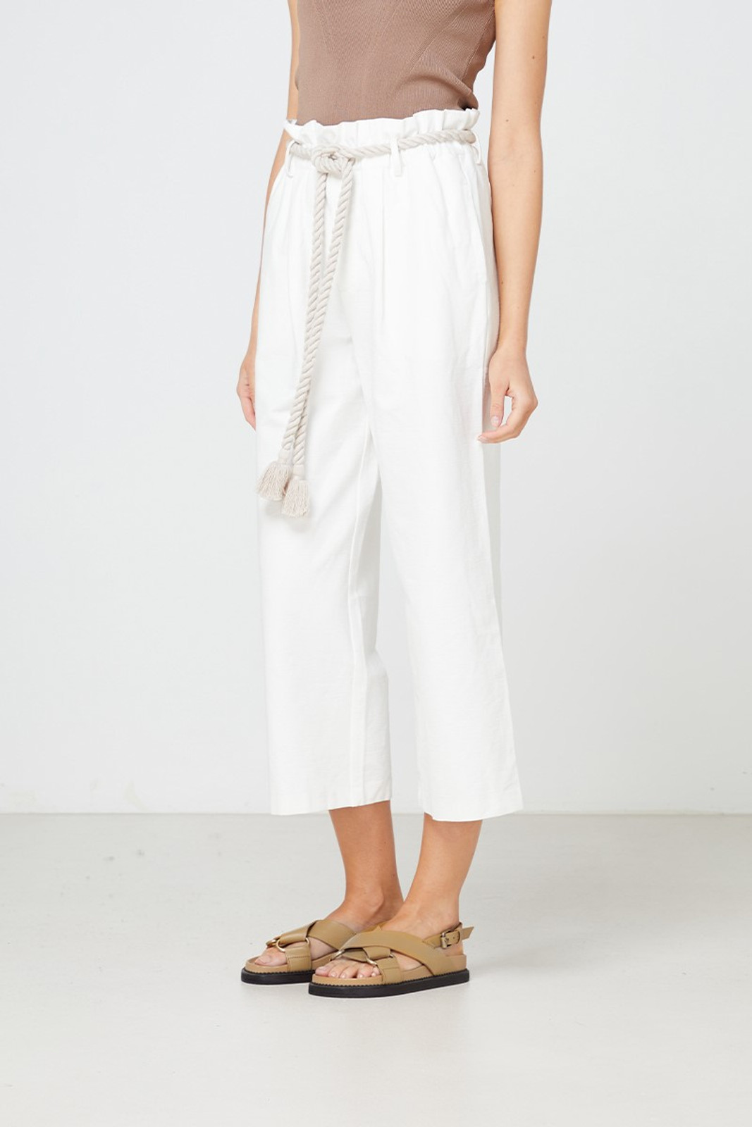 Elka Collective Arden Pant White  2