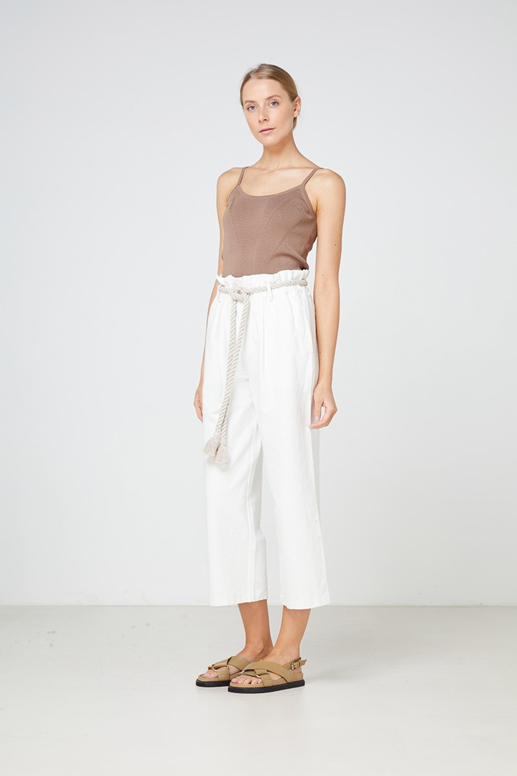 Elka Collective Arden Pant White  3
