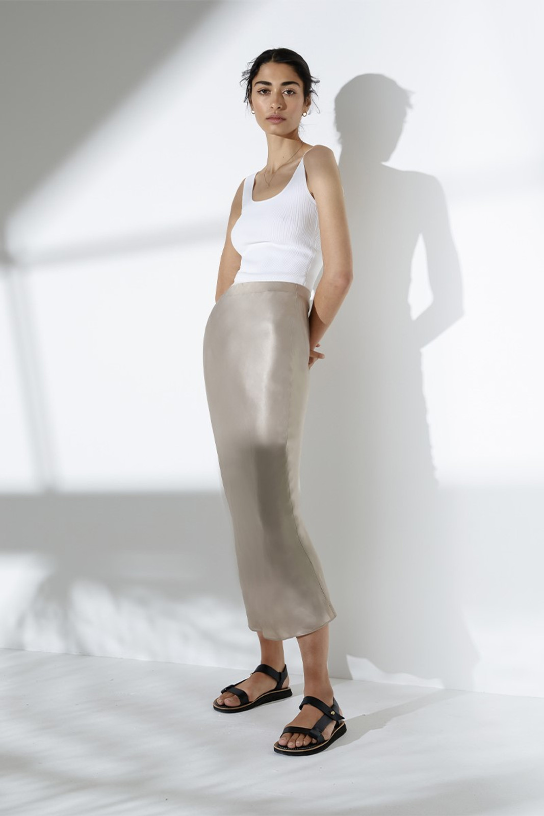 Elka Collective Sublime Skirt Neutrals  1