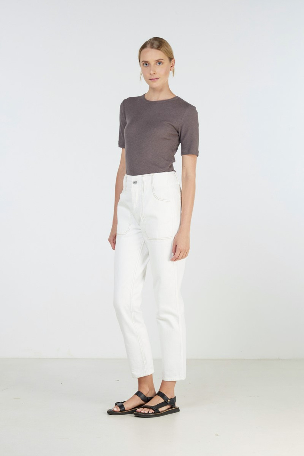 Elka Collective Coastal Jean White  0