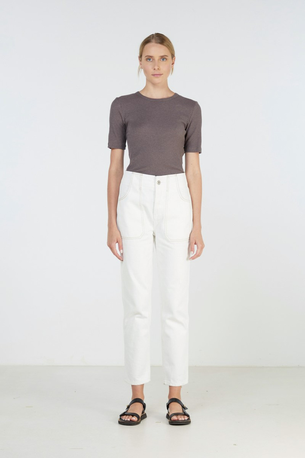 Elka Collective Coastal Jean White  2