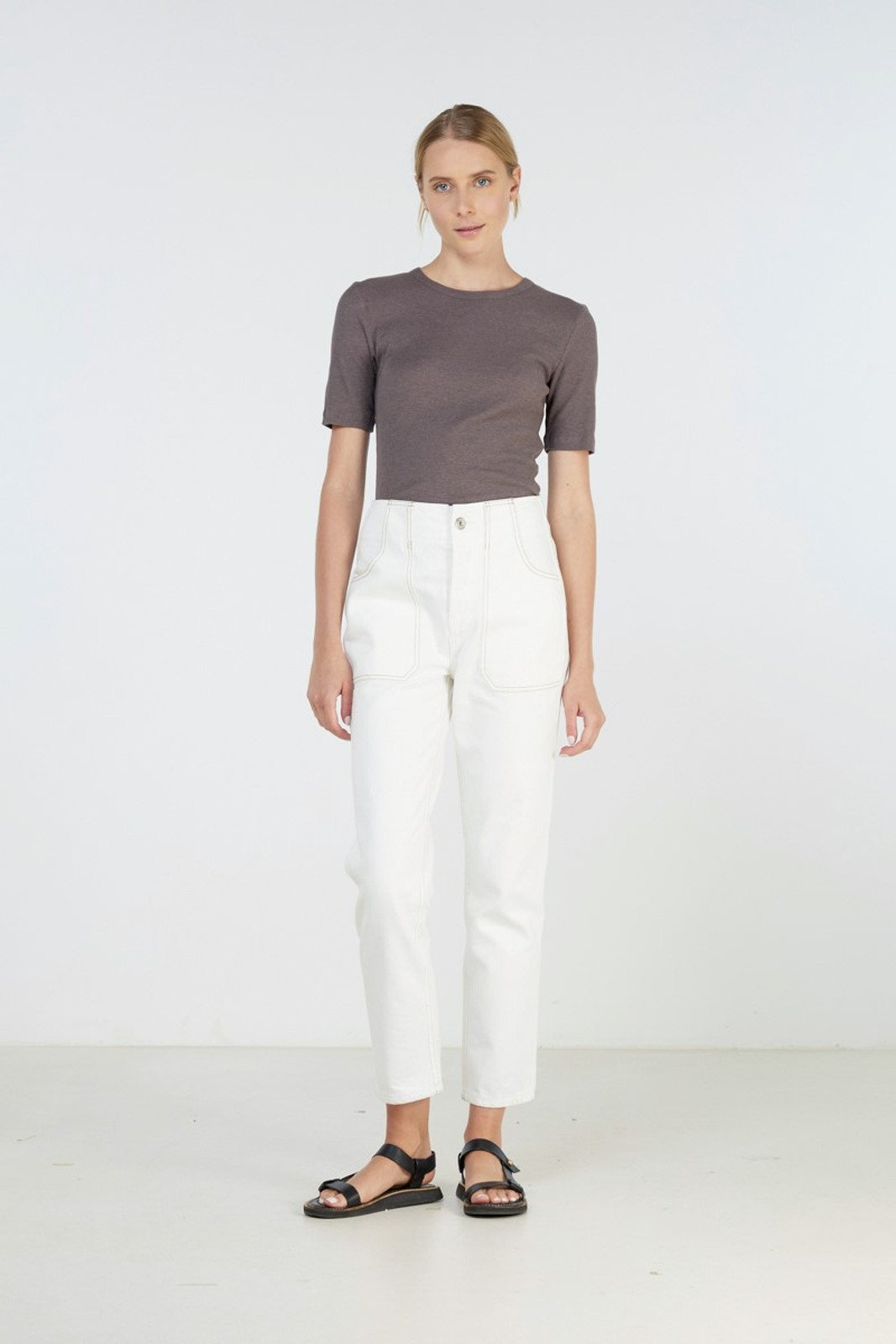 Elka Collective Coastal Jean White  3