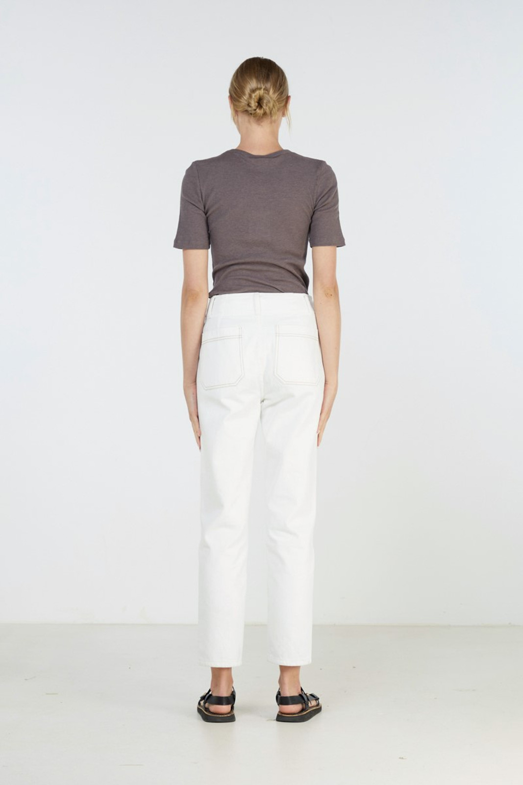 Elka Collective Coastal Jean White  4