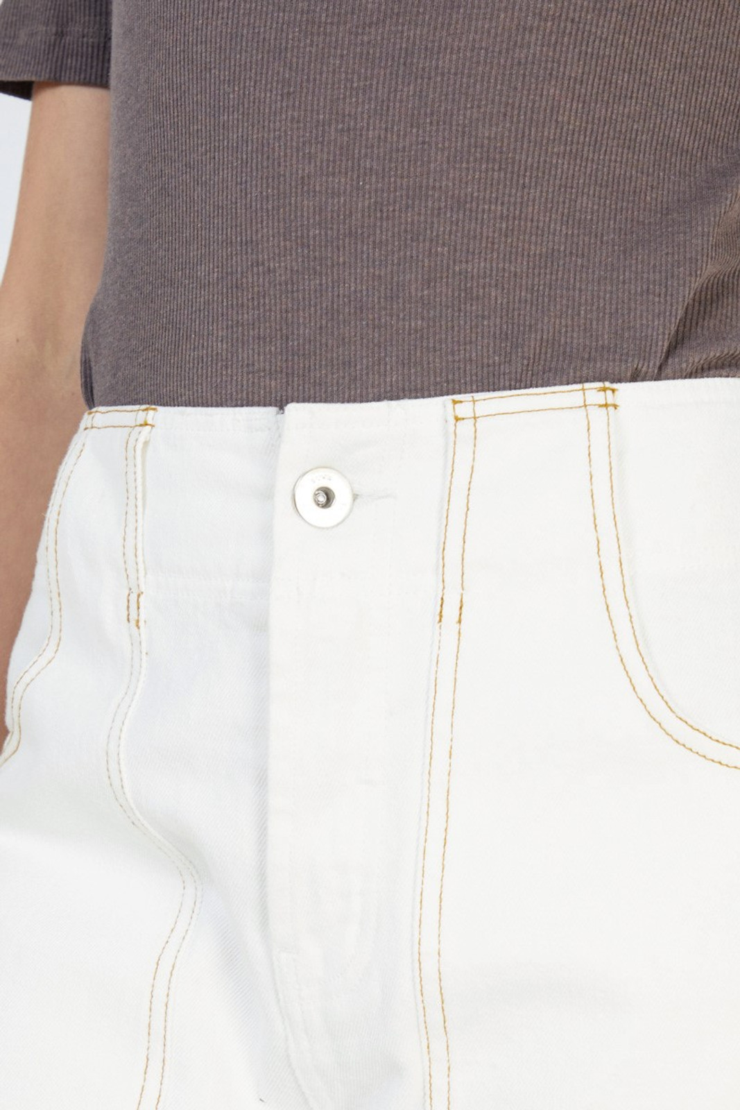 Elka Collective Coastal Jean White  5