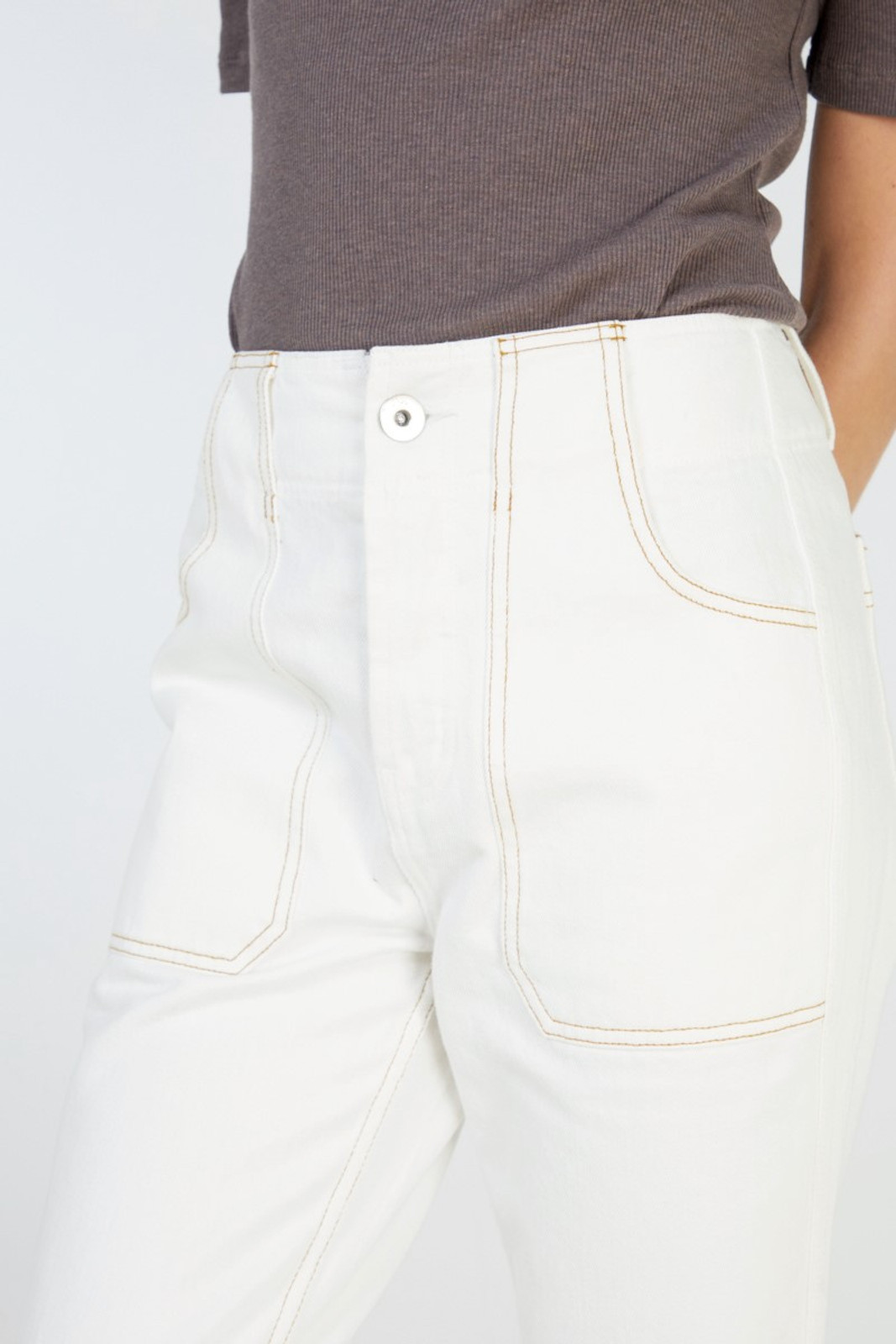 Elka Collective Coastal Jean White  6