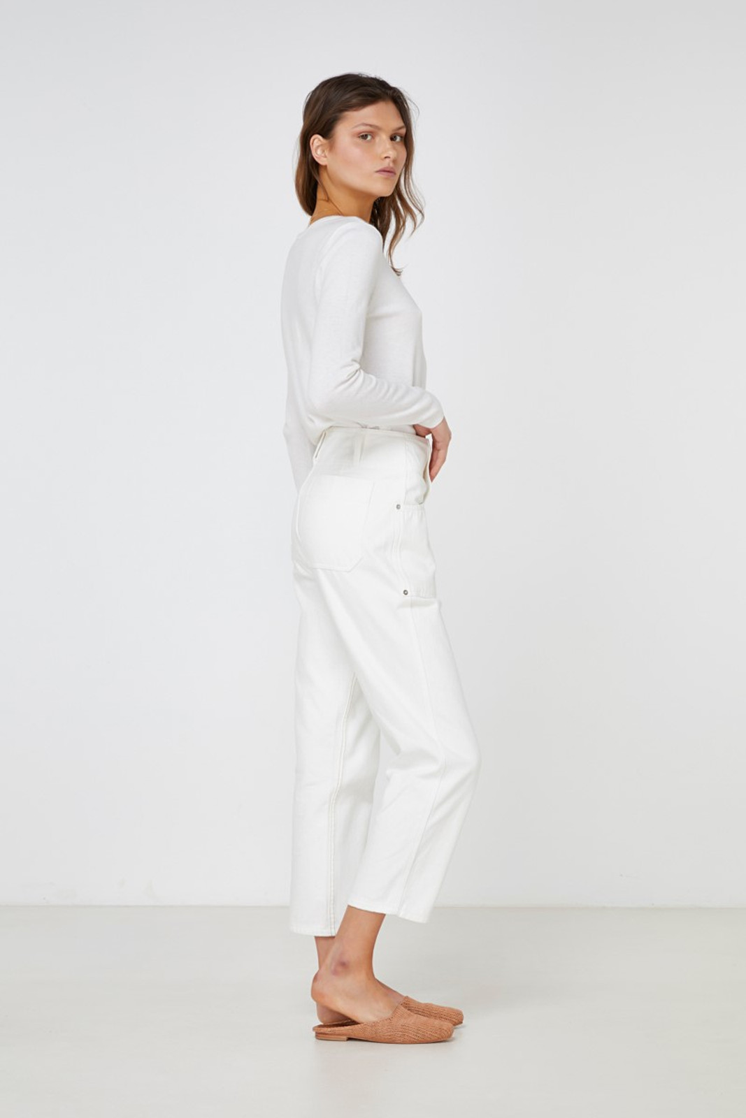 Elka Collective Coastal Jean White  7