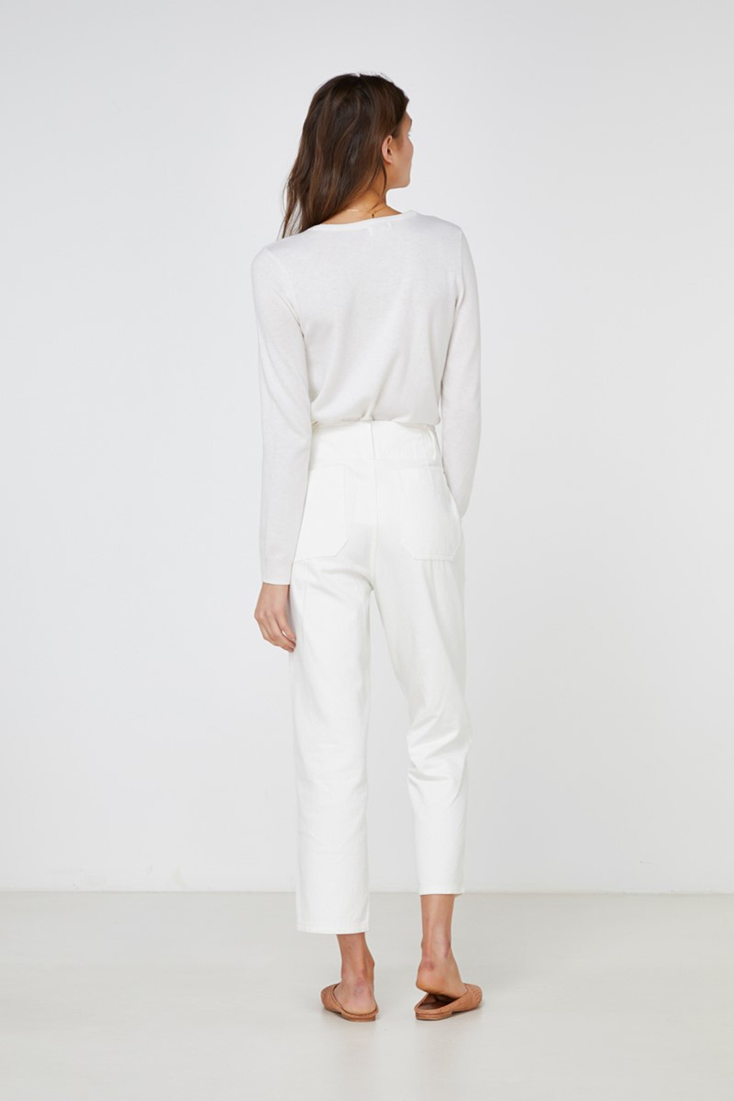 Elka Collective Coastal Jean White  8