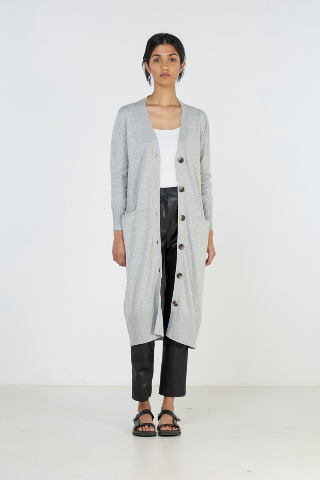 Elka Collective Slate Knit Cardi Grey  0
