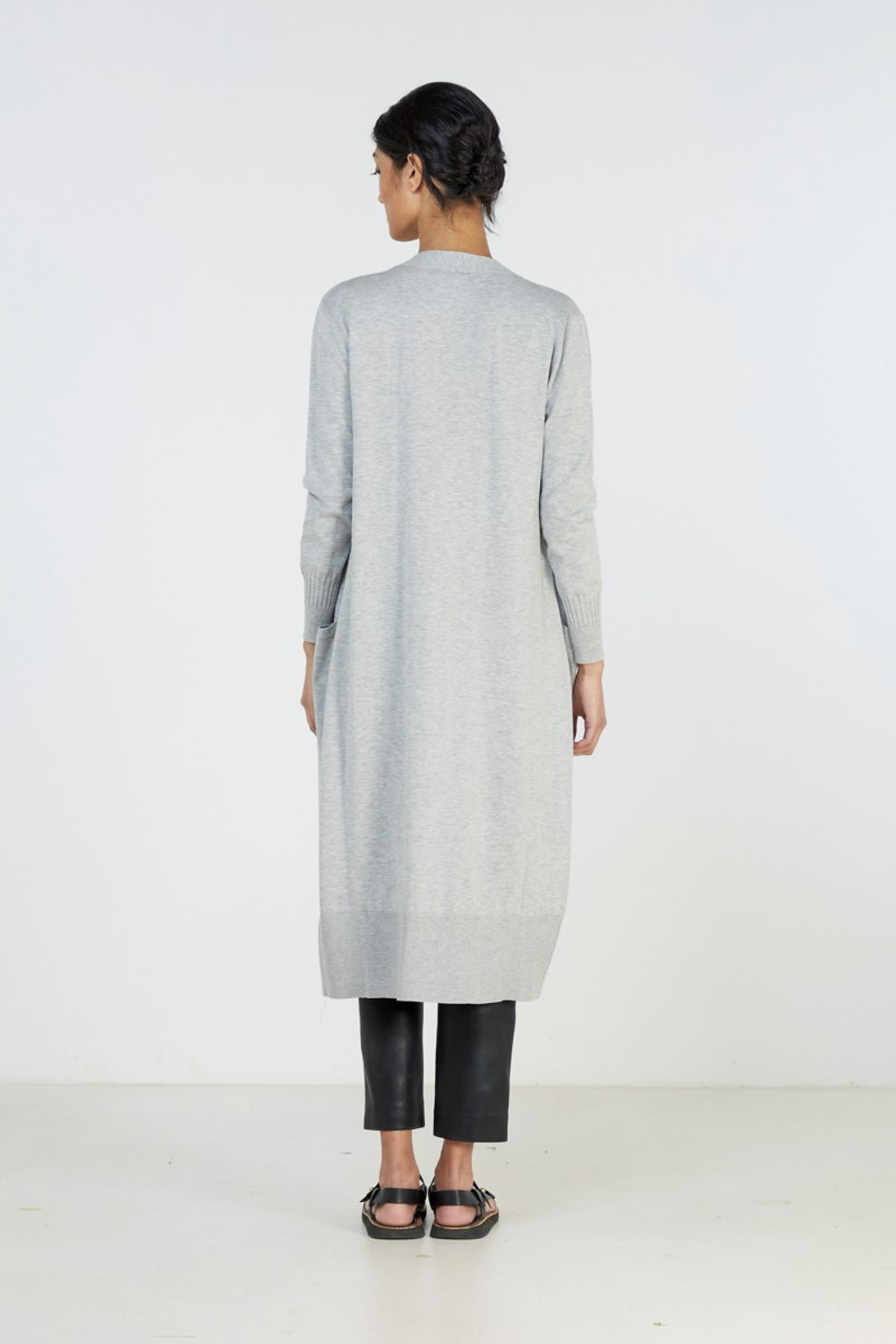 Elka Collective Slate Knit Cardi Grey  2